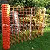 Clôture verte de sûreté de jaune orange