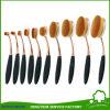 10PCS nam de Gouden Ovale Borstels van de Make-up van de Tand Geplaatst het Oog Makeup. van de Stichting van het Rouge van het Poeder van de Lip toe