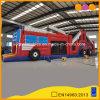 Ostacolo gonfiabile del camion dei vigili del fuoco della trasparenza del parco di divertimenti funzionato (AQ14230)