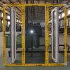 Guichet en aluminium de tissu pour rideaux de profil de couleur de qualité d'interruption thermique enduite blanche de poudre avec le blocage multi K03040