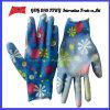 PU покрыл трудные защитные перчатки работы Guantes (PU 10018)