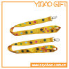 Buckle di plastica Plat Polyester Lanyard con Metal Hook (YB-LY-33)