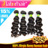 100% 7A Deep brasiliano Wave Virgin Human Hair Extensions Lbh 024