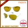 노란 렌즈 조종실 금속 색안경 중국 OEM 공급자