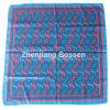 Soem-Erzeugnis passte Entwurf gedruckte Promoitonal Satin-Seide wie quadratischer Schal an