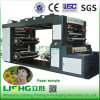 Mittleres Web-flexographische Drucken-Maschine für Papiercup, Papierbeutel