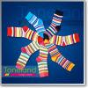 De multi-Gestreepte Normale Sokken van jonge geitjes (KNE0001-KNE0002, WNE0003-WNE0007)