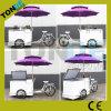 Bicicleta móvel da carga do triciclo do gelado do congelador da bebida fria