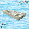 Bote de salvamento de alumínio da estabilidade da parte inferior lisa para a pesca