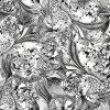Tela de seda de matéria têxtil da cópia de Digitas (TLD-0113)