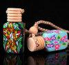 Botella de perfume de cerámica del petróleo esencial del colgante de la cerámica del coche del OEM