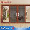 Раздвижная дверь стекла зерна алюминиевого профиля деревянная