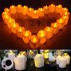 Lámpara electrónica amarilla electrónica de la vela de la boda del regalo de la Navidad de la lámpara de la vela del color ligero de la vela del LED que contellea