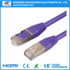 Cable de Ethernet del cable UTP SFTP de la red de la cuerda de corrección CAT6