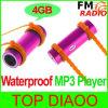 Joueur de MP3 imperméable à l'eau de natation avec FM Ipx8 par radio (SW-01)