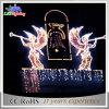 Luz ao ar livre do motivo do anjo do feriado do Natal do diodo emissor de luz do preço de fábrica