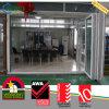 Buiten Gemakkelijk Bewegend Plastiek UPVC/PVC die Vouwend de Deur van het Glas glijdt