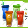 16 onzas Wholesale Double Wall Acrylic Cup con Straw (TB-A3)