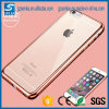 GroßhandelsTransparent Crystal - freies Back Panel Plating TPU Bumper Phone Fall für iPhone 5s