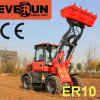 Le CE de la marque Er10 d'Everun a approuvé mini Radlader articulé 1.0 par tonne