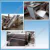 Maquinaria industrial do processo de produção dos flocos de milho