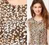 Buntes Sequin Combine Embroidery Fabric auf Mesh Fabric für Make Fashion Dress (HM5120)