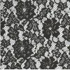 Tissu de Déformer-Tricotage floral noir de lacet