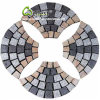 Natürlicher Steinbush hammerte Ventilator-Form ineinandergegriffene Granit-Bahn-Straßenbetoniermaschinen für Garten
