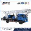 plataforma de perforación montada Trucke principal rotatoria Dfc-S300 del pozo de agua de los 300m