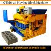 Подвижная машина блока бетонной стены Qtm6-25