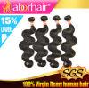 Выдвижение 100% человеческих волос Remy объемной волны девственницы перуанское Lbh 156