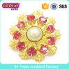 Fábrica Fancy Gold Rhinestone Crystal Brooch para Mulheres