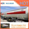 Трейлер нефтяного танкера трейлера 40m3 топлива трейлера 50cbm бака петролеума Axle стали углерода 3 для сбывания