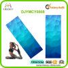 Caucho natural de los diamantes del azul de cielo y estera de Microfiber para la yoga