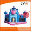 Princesa inflável Cor-de-rosa Bouncy Castelo T2-501