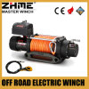 Cable transmisión resistente de 9500lbs 12V que tira del torno eléctrico con la cuerda sintetizada
