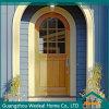 ドアハンドルロックが付いている古典的なエントリ固体木のドア