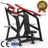 Equipo ISO-Lateral cargado placa de la aptitud de la gimnasia de la fuerza del martillo de la prensa del hombro