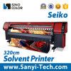 Impresora solvente emprendedora de China, impresora de Digitaces Sinocolorsk-3278s, impresora del trazador de gráficos del solvente de la impresora los 3.2m del formato grande