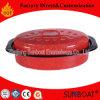 Articolo da cucina di piccola dimensione di colore rosso del girarrosto ovale dello smalto di Sunboat