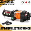 Torno eléctrico accionado motor de voltio 2500 de UTV 12 con la cuerda sintetizada