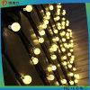 Luz impermeável da corda da esfera do diodo emissor de luz com o bulbo para a decoração ao ar livre