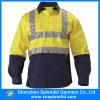 100벌의 면 안전 안전 제복 셔츠를 입는 Mens 면 교련