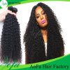 Estensione calda riccia crespa dei capelli di stile, capelli umani brasiliani di 100%