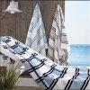 100%年の綿のベロアの縞の浴室タオルのビーチタオル
