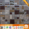 Mosaico real de Emperador Marble e mosaico de Brown Color Glass (M855082)