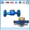 Medidor de água Dn32 do corpo do ferro de molde do jato do baixo custo multi