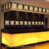 Камень желтой твердой поверхностной акриловой смолы просвечивающий для стола приема