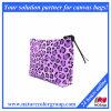 Bolsa cosmética del maquillaje del bolso de Facric del guepardo púrpura