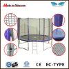 Safest esterno Round Jumping Sport Trampoline con Enclosure